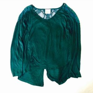 Free People Emerald Green Lace Blouse!
